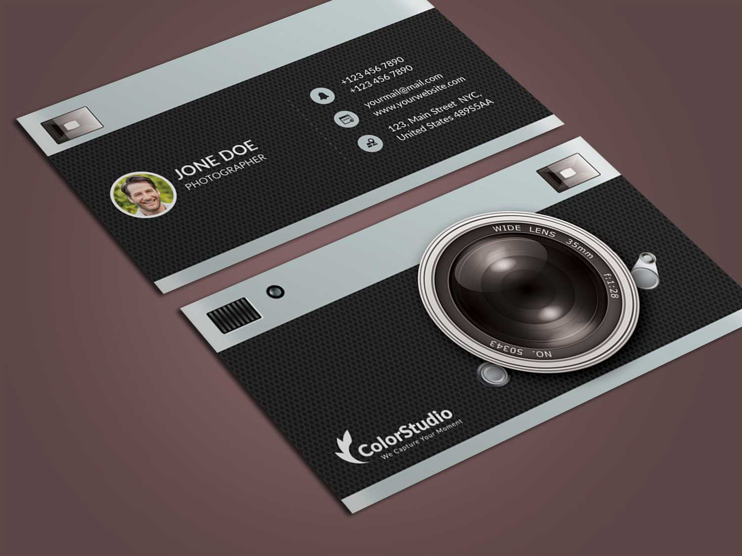 Photography Business Card Template Psd - Free Graphics Throughout Photography Business Card Templates Free Download
