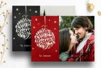 Photoshop Christmas Card Template For Photographers – 012 regarding Christmas Photo Card Templates Photoshop