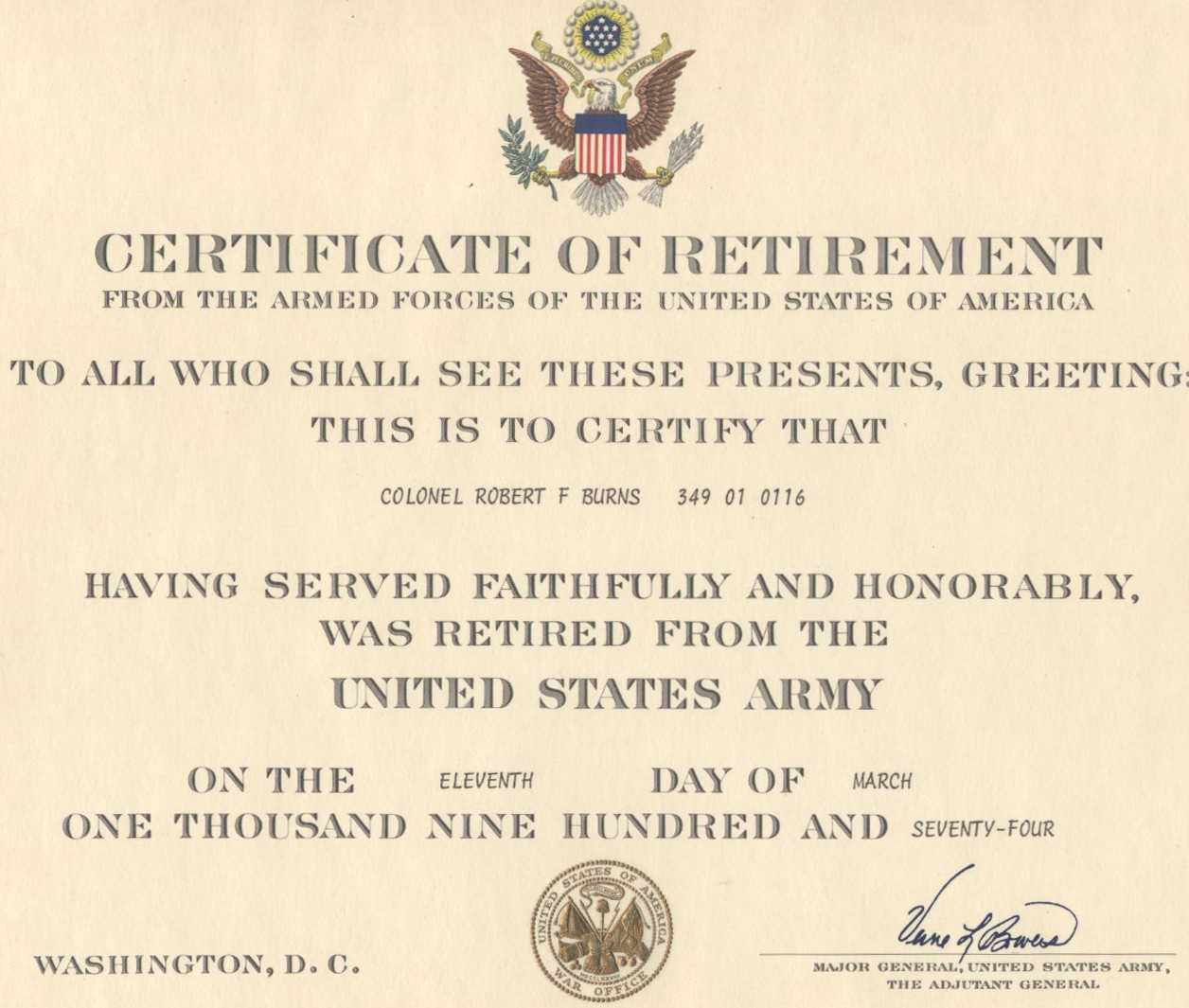 Pin On Pinterest. Sample Images Frompo. . Insanity Within Retirement Certificate Template