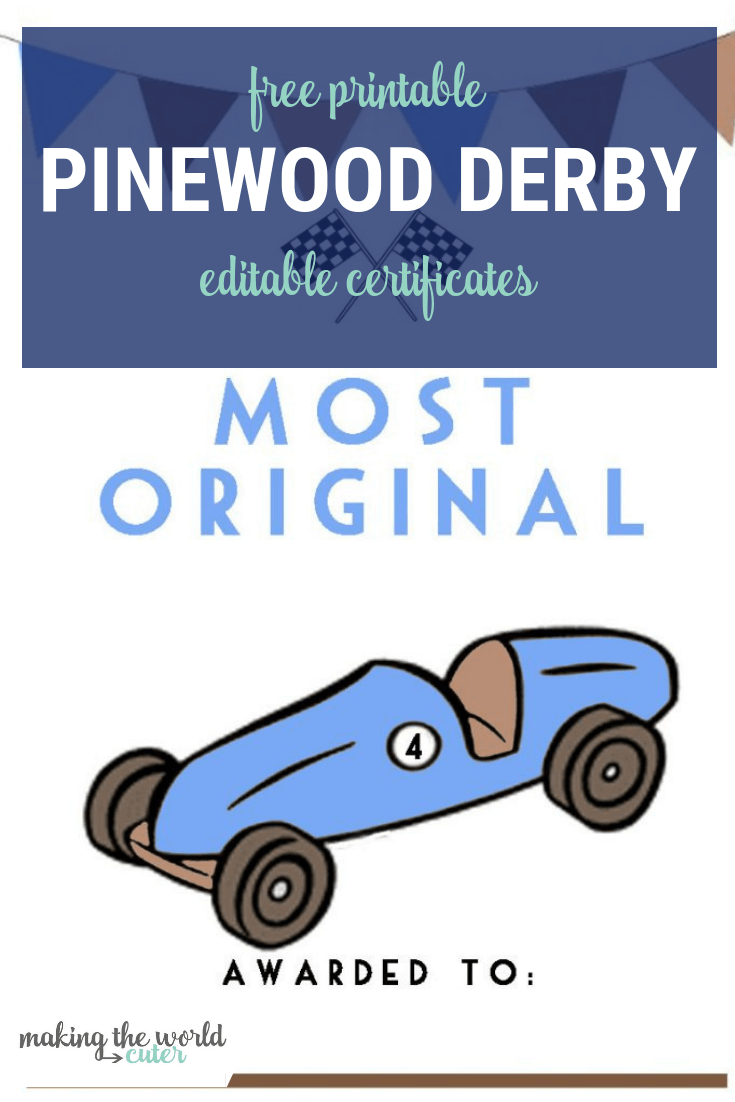 Pinewood Derby Certificates Throughout Pinewood Derby Certificate Template