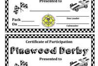 Pinewood Derby | Domesticity At Its Finest! intended for Pinewood Derby Certificate Template