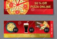 Pizza Coupon Discount Template Flat Design Stock Vector intended for Pizza Gift Certificate Template