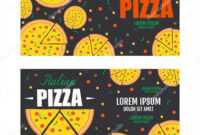 Pizza Flyer Vector Template. Two Pizza Banners. Gift Voucher intended for Pizza Gift Certificate Template