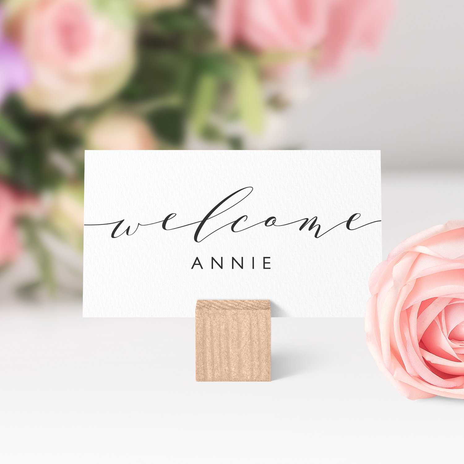 Place Cards Printable Template, Flat And Folded Welcome Pertaining To Place Card Setting Template