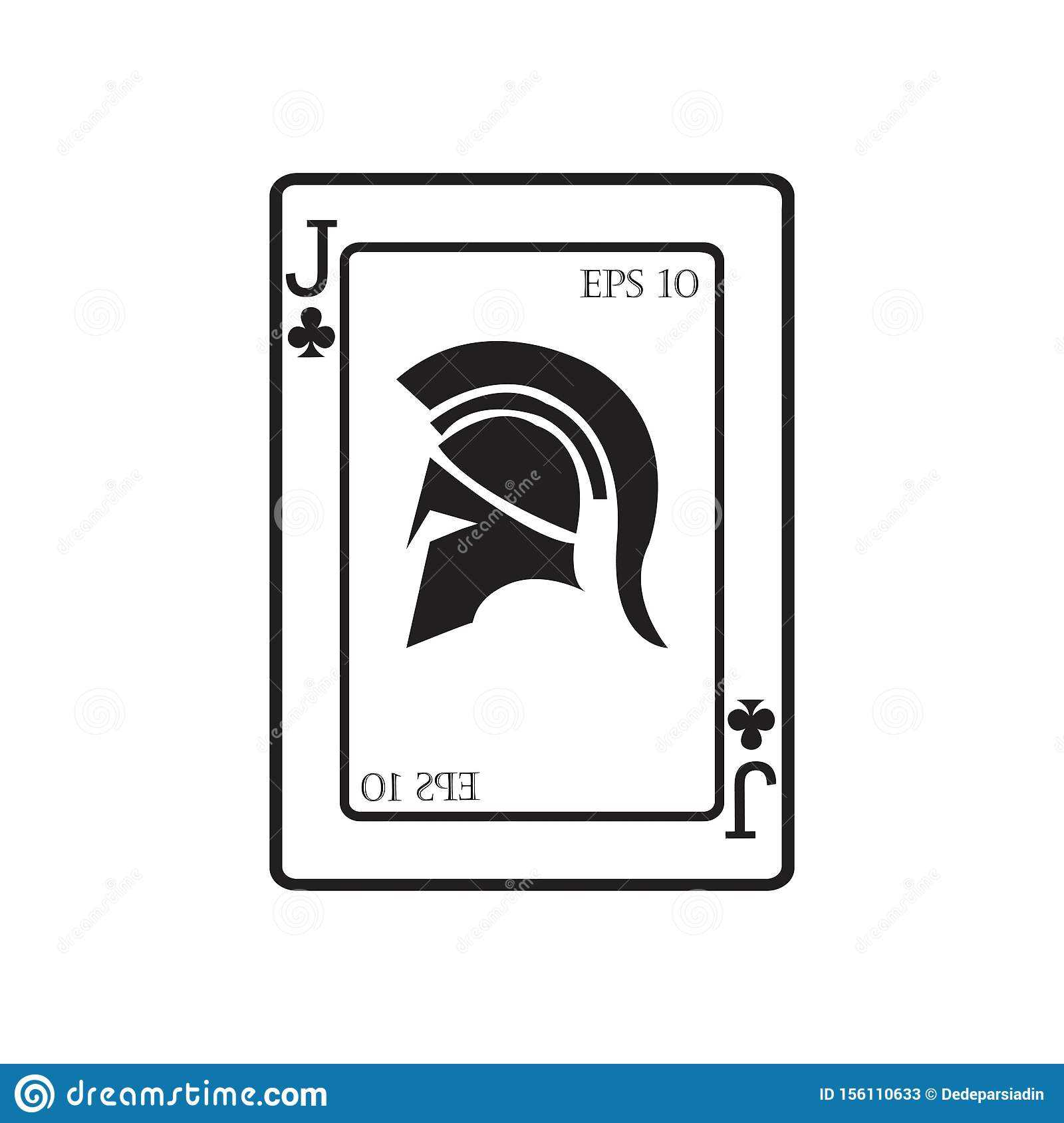 Playing Card Vector Icon Illustration Design Stock Vector Inside Chance Card Template