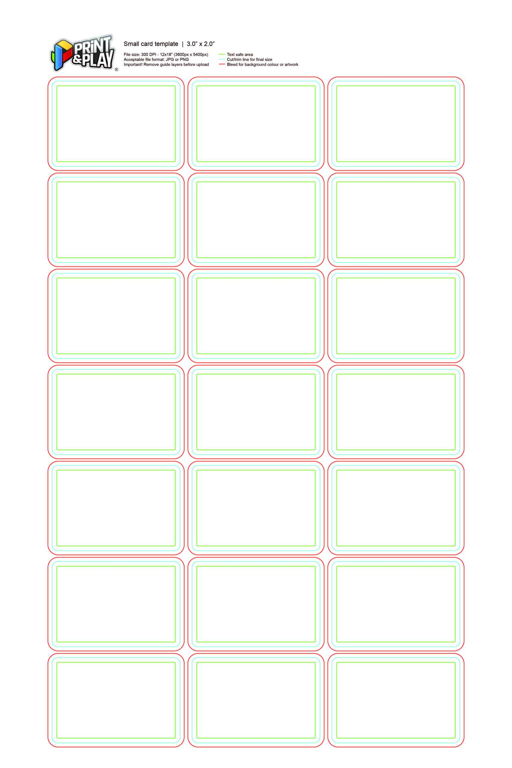 Playing Cards : Formatting & Templates - Print & Play Throughout Template For Game Cards