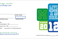 Pledge Card Template – Fossil.adtddns.asia with regard to Building Fund Pledge Card Template