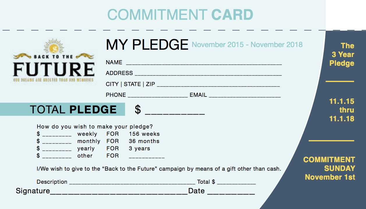 Pledge Card Template Word ] – Free Pledge Card Template Pertaining To Donation Cards Template