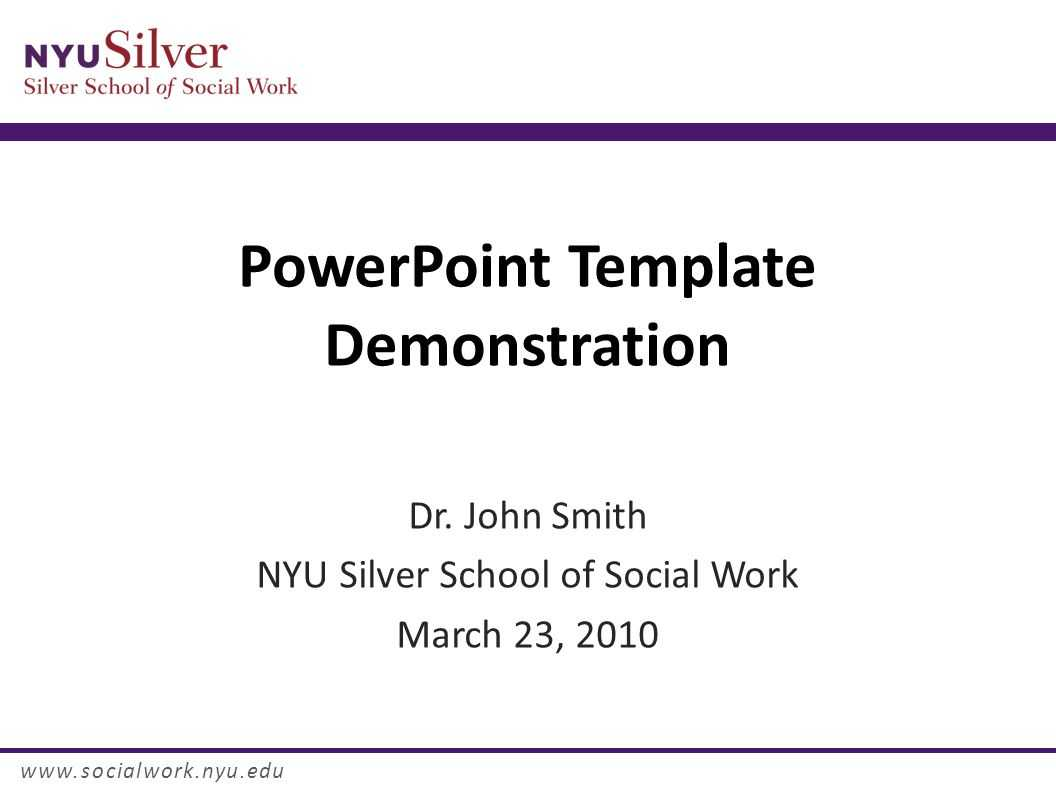Powerpoint Template Demonstration Dr. John Smith Nyu Silver For Nyu Powerpoint Template