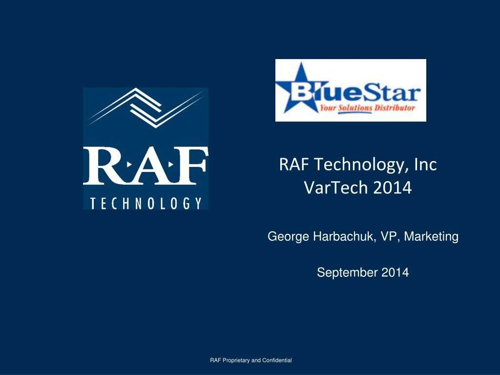 Ppt - Raf Technology, Inc Vartech 2014 Powerpoint Pertaining To Raf Powerpoint Template