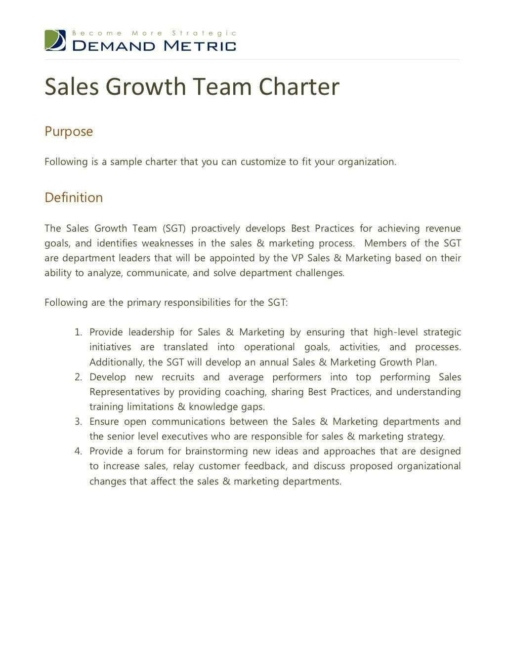 Ppt – Sales Growth Team Charter Powerpoint Presentation – Id With Regard To Team Charter Template Powerpoint
