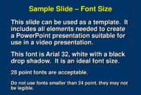 Ppt – Sample Slide – Font Size Powerpoint Presentation, Free regarding Powerpoint Presentation Template Size