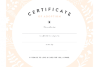 Pretty Fluffy with regard to Pet Adoption Certificate Template