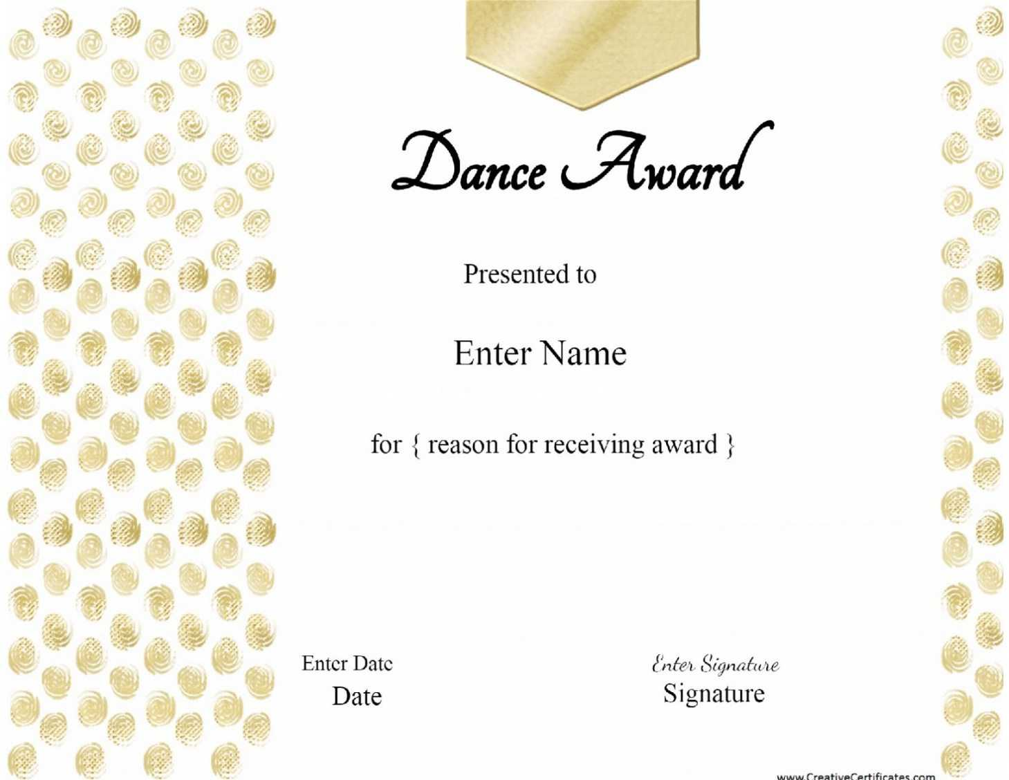 Printable 28 Images Of Dance Gift Certificate Template Bfegy Pertaining To Dance Certificate Template