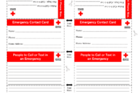 Printable Emergency Card Template – Fill Online, Printable with In Case Of Emergency Card Template