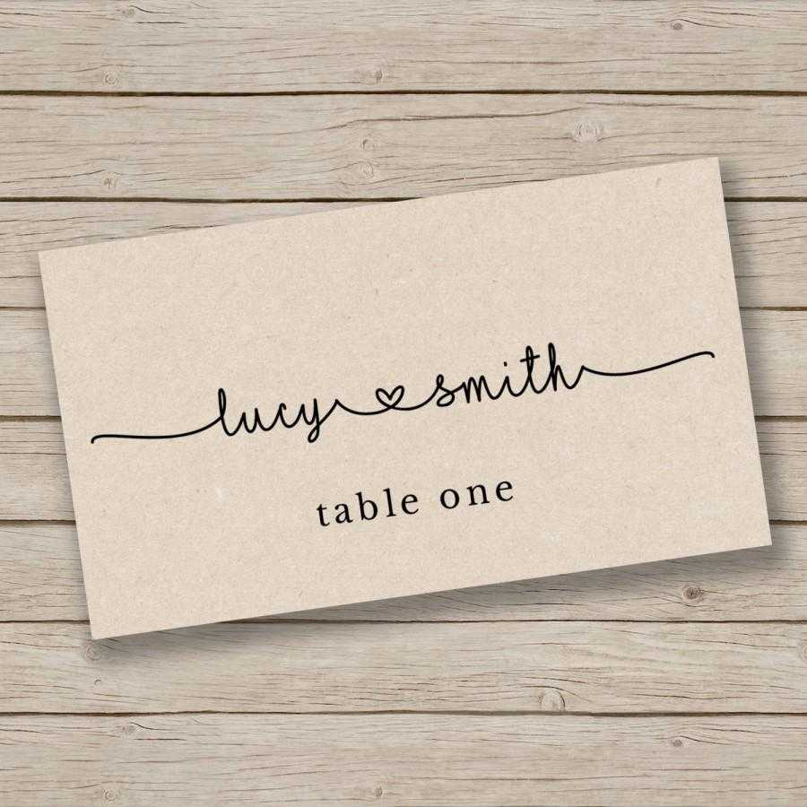 Printable Escort Card Template – Place Card Template – Tent For Template For Cards In Word