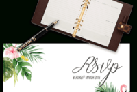 Printable Free Wedding Rsvp Template & Cards Microsoft Word in Acceptance Card Template
