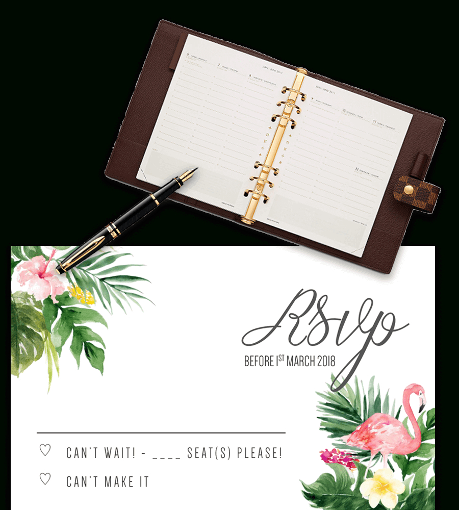 Printable Free Wedding Rsvp Template & Cards Microsoft Word Throughout Free Printable Wedding Rsvp Card Templates