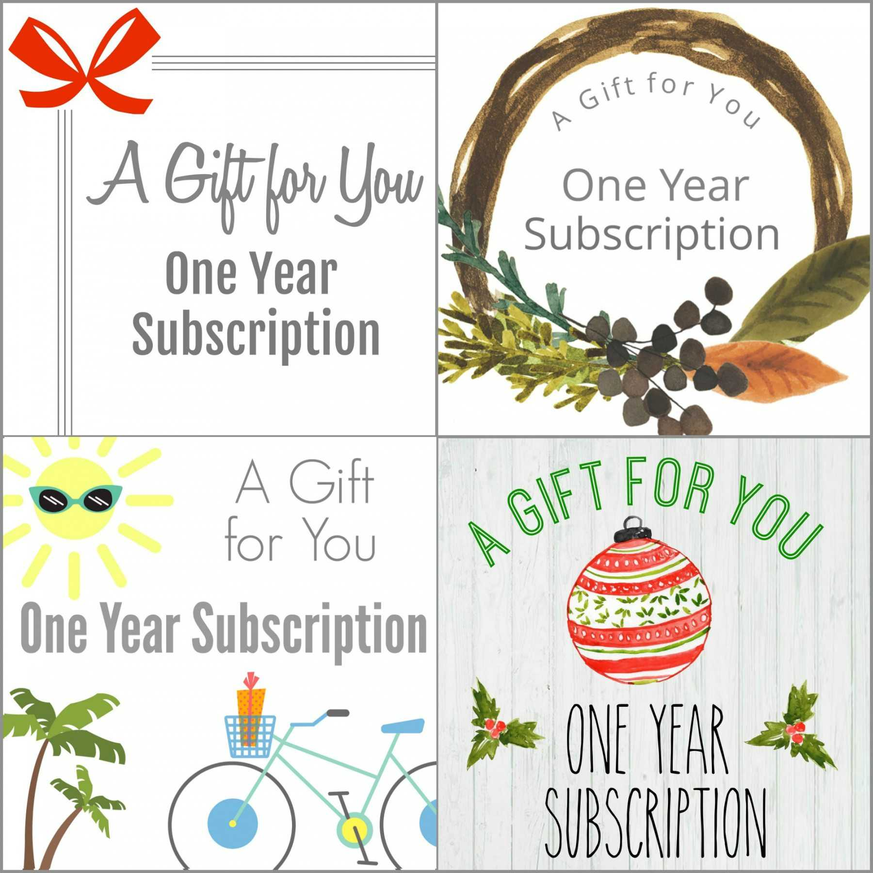 Printable Gift A Magazine Subscription With Our Free In Magazine Subscription Gift Certificate Template