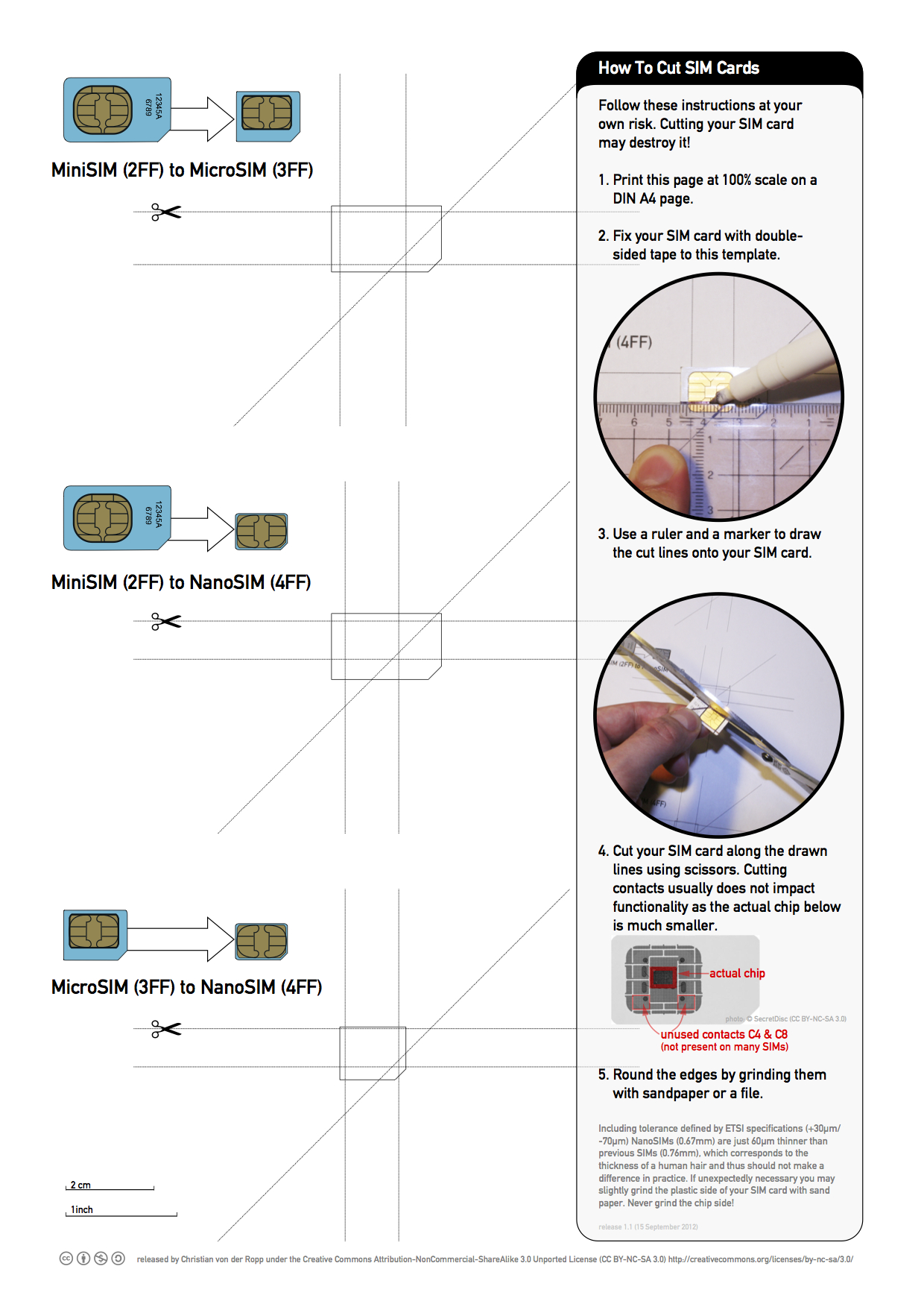 Printable Nano Sim And Micro Sim Cutting Guide [Download Within Sim Card Cutter Template