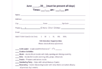 Printable Vbs Registration Form Template – Fill Online pertaining to Vbs Certificate Template