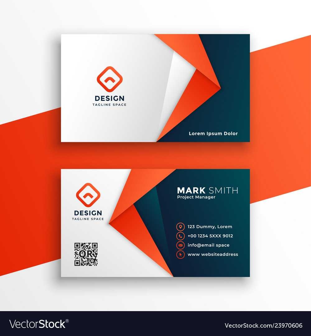 Professional Business Card Template Design For Designer Visiting Cards Templates