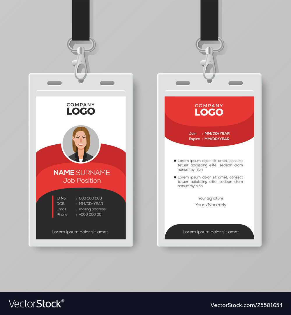 Professional Employee Id Card Template With Regard To Work Id Card Template