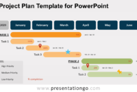 Project Plan Template For Powerpoint – Presentationgo with regard to Project Schedule Template Powerpoint