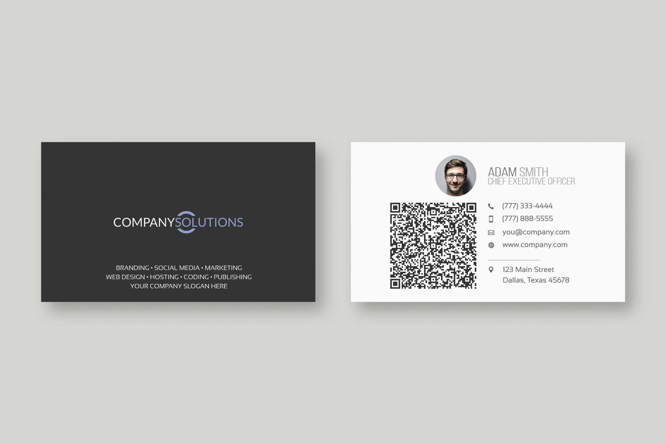 Qr Code Business Card – Mahre.horizonconsulting.co With Qr Code Business Card Template