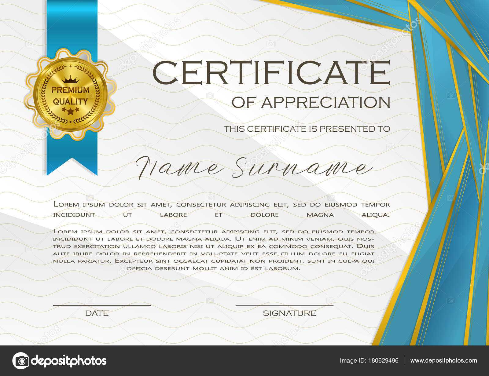 Qualification Certificate Appreciation Design Elegant Luxury With Qualification Certificate Template