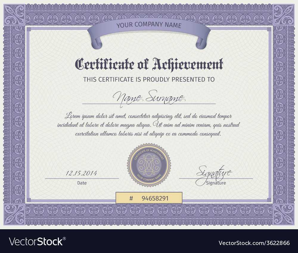 Qualification Certificate Template For Qualification Certificate Template