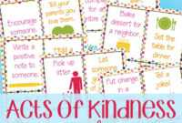 Random Acts Of Kindness Hearts – Kindness Cards – Natural for Random Acts Of Kindness Cards Templates