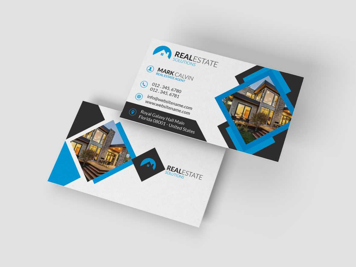 Real Estate Business Card 37 – Graphic Pick For Real Estate Agent Business Card Template