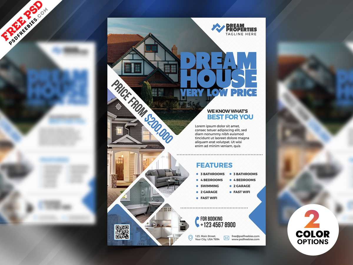 Real Estate Flyer Design Psd | Psdfreebies With Real Estate Brochure Templates Psd Free Download