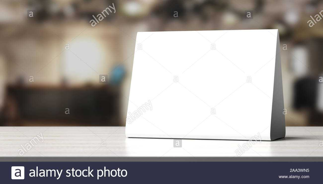 Reservation Concept. Table Tent Blank, Reserved Card Sign In Table Reservation Card Template