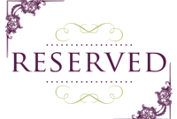 Reserved Card Template ] – Reserved Table Signs Printable for Table Reservation Card Template