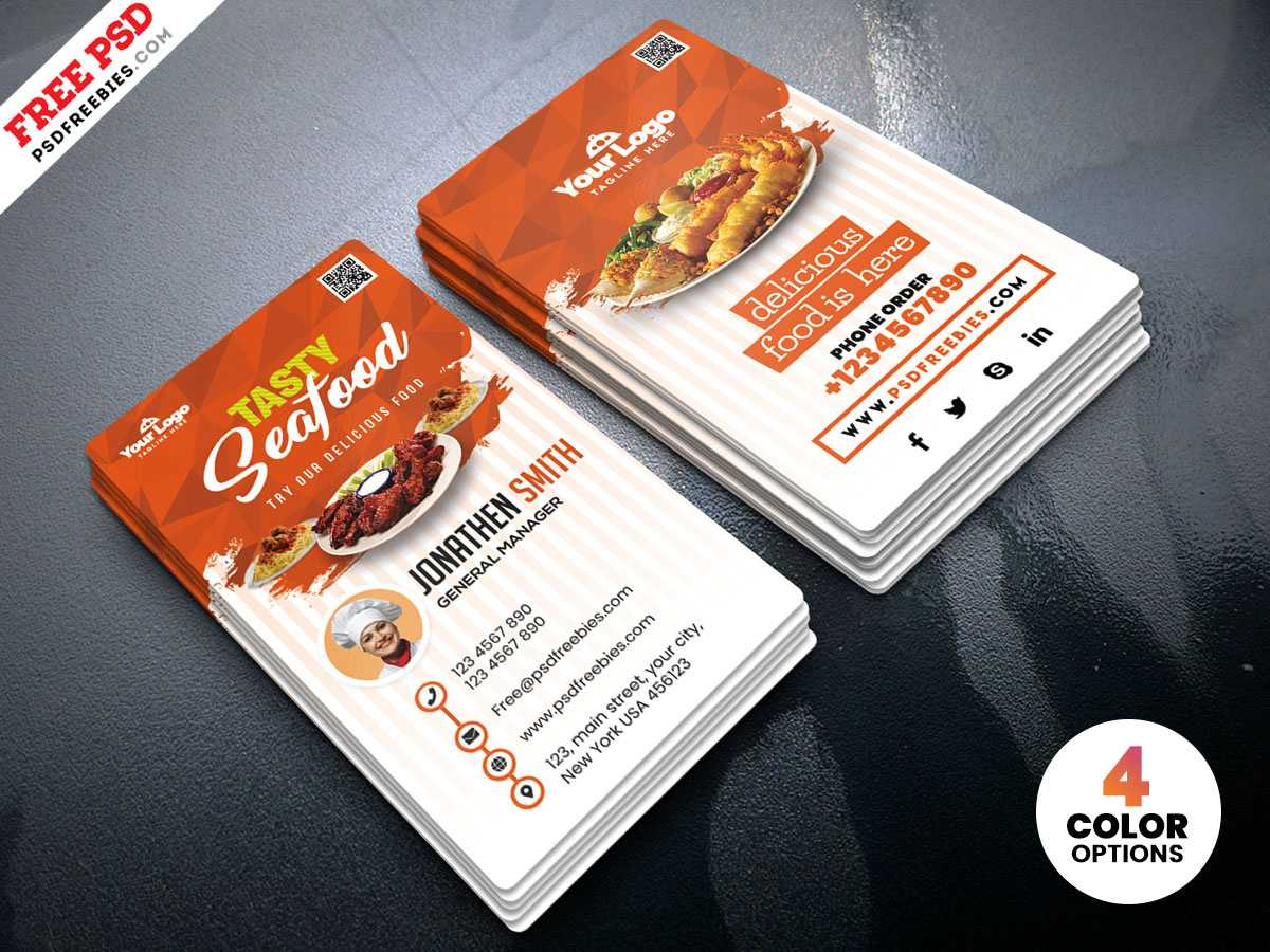 Restaurant Business Cards Templates Free - Zohre Throughout Restaurant Business Cards Templates Free