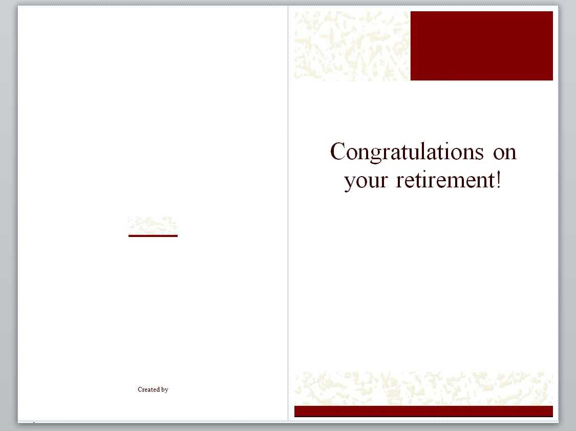 Retirement Card Template | Retirement Cards Regarding Retirement Card Template