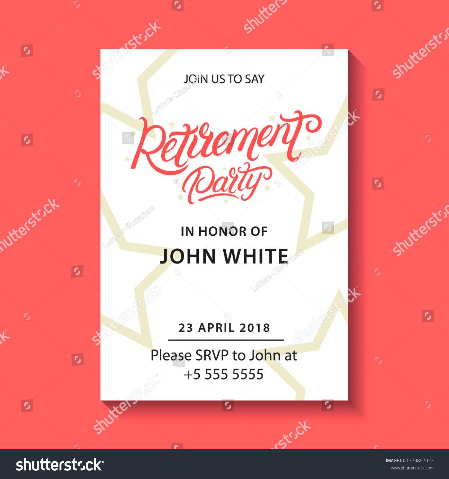 Retirement Party Invitation Retirement Party Hand Stock With Retirement Card Template
