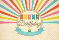 Retro Happy Birthday Card Psd - Free Photoshop Brushes At regarding Photoshop Birthday Card Template Free