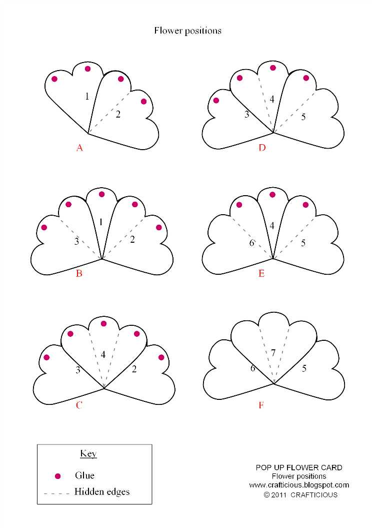 Rose Pop Up Card Template Free Intended For Templates For Pop Up Cards Free