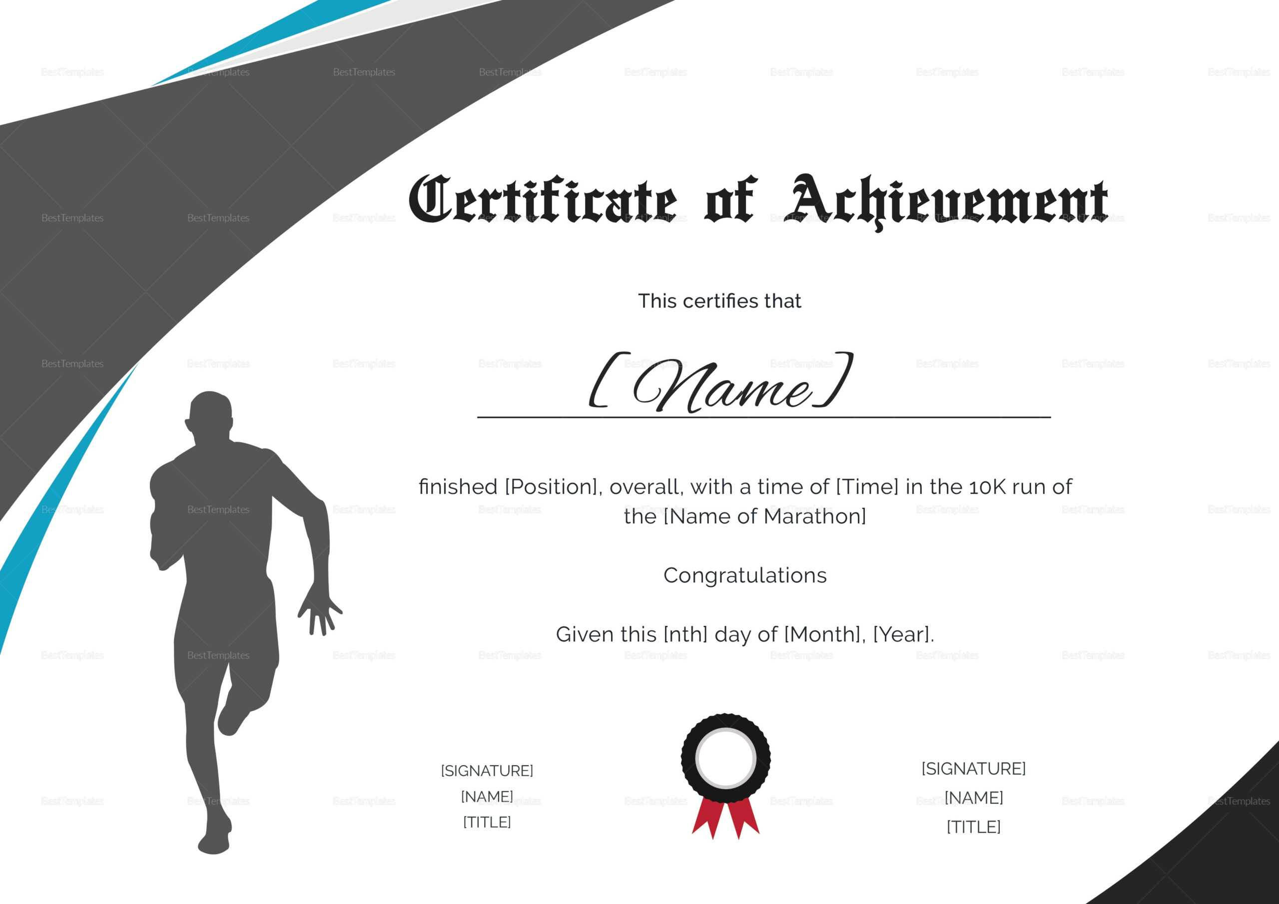 Running Certificate Template – Carlynstudio For Running Certificates Templates Free