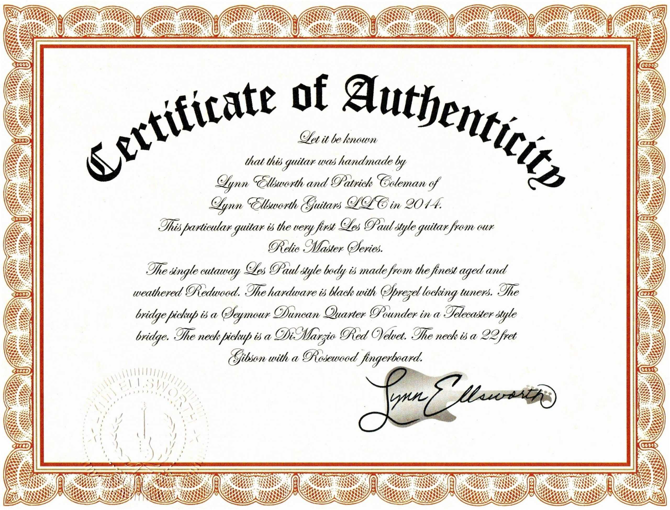 Sample Certificate Of Authenticity Photography Best Of Pertaining To Photography Certificate Of Authenticity Template