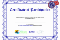 Sample Certificate Of Participation Template – Zohre for Sample Certificate Of Participation Template