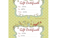 Sample Gift Certificate | Templates At Allbusinesstemplates for Homemade Gift Certificate Template