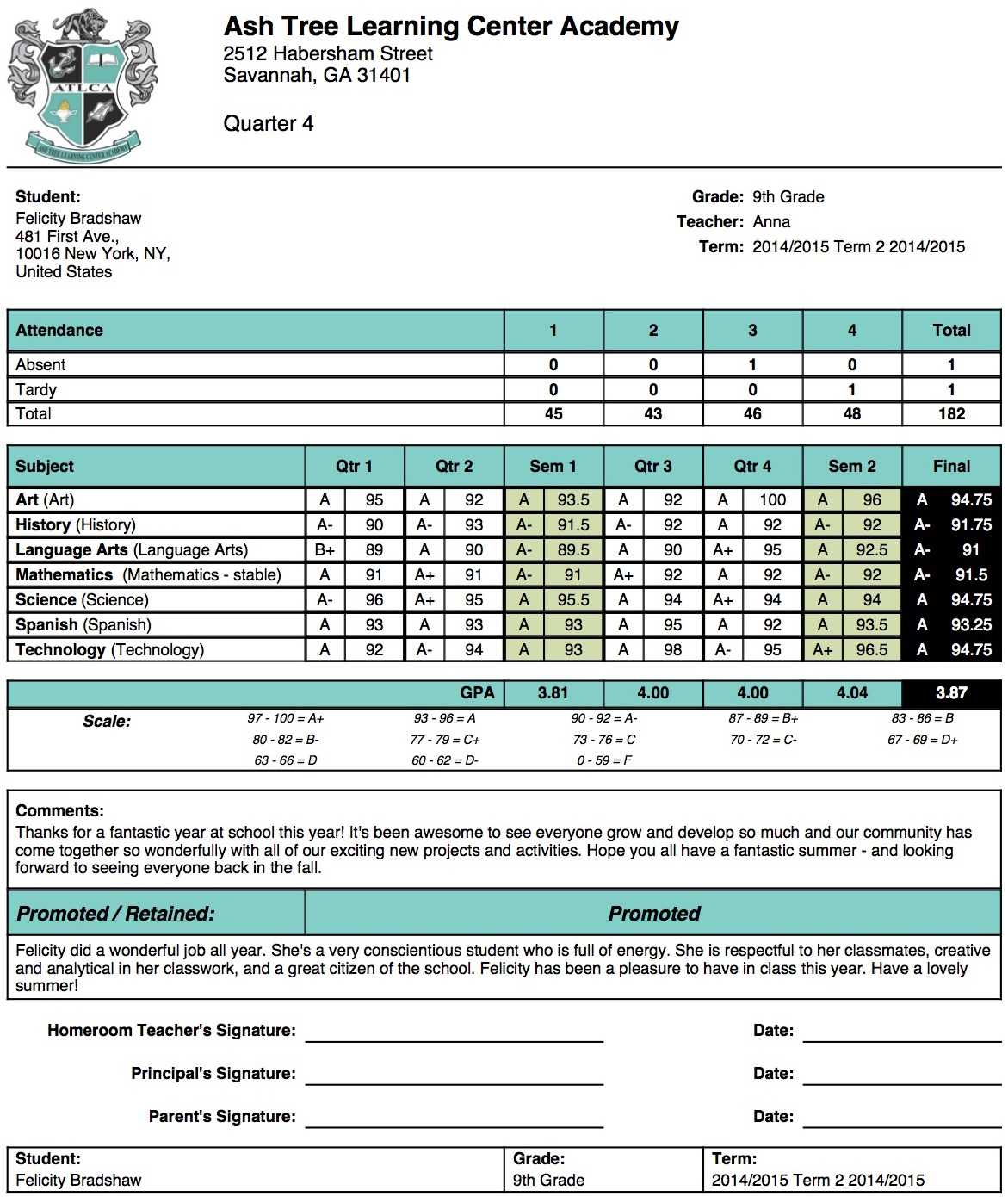 Sample High School Report Card - Zohre.horizonconsulting.co Intended For High School Student Report Card Template