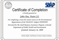 Sample Ojt Certificate Of Completion – Mahre intended for Small Certificate Template