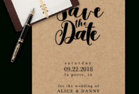 Save The Date Templates For Word [100% Free Download] inside Save The Date Cards Templates