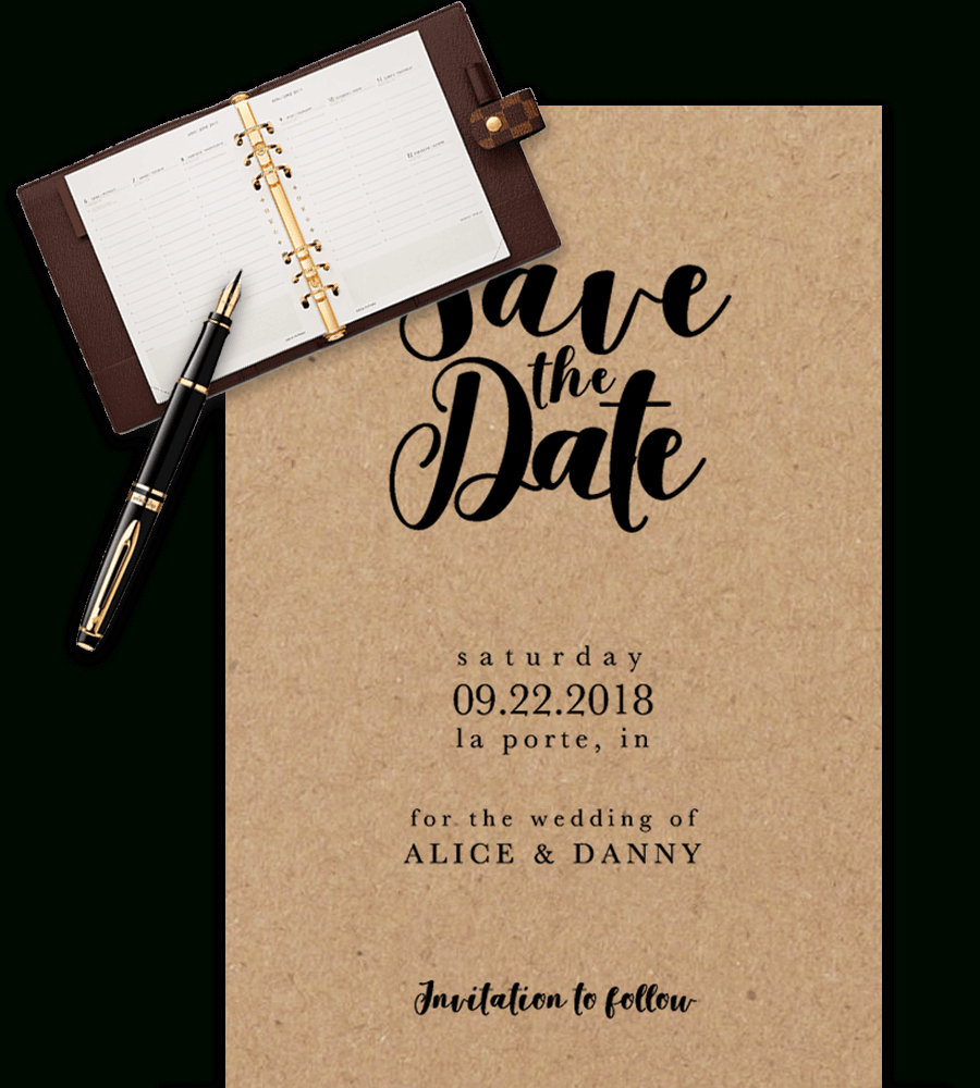 Save The Date Templates For Word [100% Free Download] Inside Save The Date Powerpoint Template