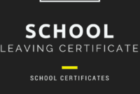School Leaving Certificate: Template And Examples Of School with School Leaving Certificate Template